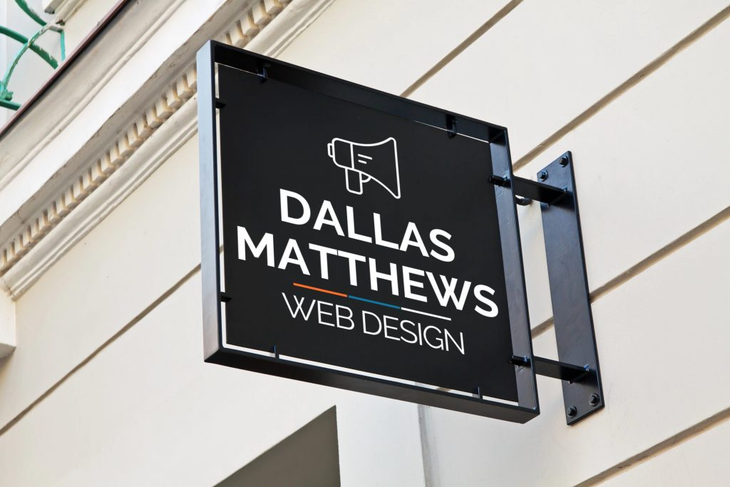 Image of the Dallas Matthews sign